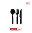 spoon fork and knife icon vector image vector image