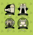 st patricks day emblems vector image vector image