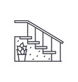 staircase at the entrance line icon concept vector image vector image