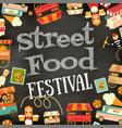 street food festival vector image vector image