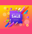 super sale banner abstract geometric design vector image vector image