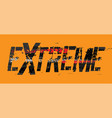 tire extreme lettering vector image vector image