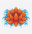 traditional lotus tattoo designs vector image