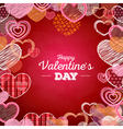 Valentine day card with love hearts vector image vector image