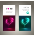 valentines day banners or flyer backgrounds vector image