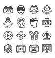virtual reality icon vector image vector image