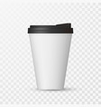 white coffee cap mock up empty mug template with vector image vector image