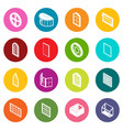 window forms icons set colorful circles vector image vector image