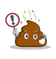 with sign poop emoticon character cartoon vector image