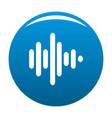 sound wave icon blue vector image