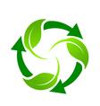 Green Recycle logo vector image