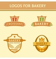Set of logos for the bakery vector image