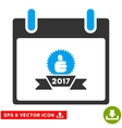 2017 Award Ribbon Calendar Day Eps Icon vector image vector image