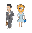 a guy and a girl on a date vector image vector image