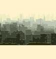 abstract cartoon of big snowy city vector image