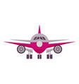 airplane front view icon vector image