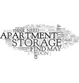 apartment search text word cloud concept vector image vector image