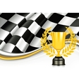 Background with a Trophy vector image vector image