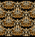 baroque damask abstract seamless pattern vector image vector image