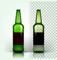 beer bottle craft cold drink brewery vector image vector image