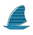 blue sailing ship boat travel design vector image vector image