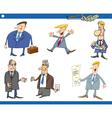 cartoon set of businessmen vector image vector image