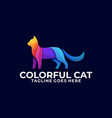 cat colorful design concept template vector image