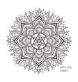 chakras symbol coloring vector image vector image