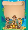 children scouts theme parchment 1 vector image vector image