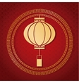 chinese new year 2017 traditional lantern golden vector image