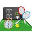 chronometer to tennis competition and poins game vector image vector image