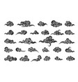 cloud in chinese style abstract black cloudy set vector image vector image