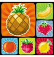 colorful fruity icons set vector image vector image