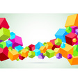 Colorful wave made of cubes vector image vector image