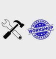 contour tools icon and grunge workshop vector image vector image