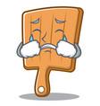 crying kitchen board character cartoon vector image vector image
