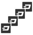 dash block chain flat icon vector image vector image