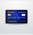 detailed realistic credit card money payment vector image