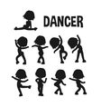 Different dancer poses vector image vector image