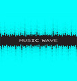 digital black pulse music player background vector image