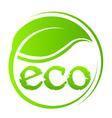 Eco green seal vector image