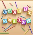 elementary school background vector image