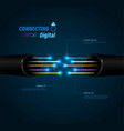 fiber optic connection vector image vector image