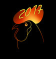 fiery rooster the symbol of the chinese new year vector image