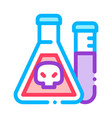 flask with chemical liquid thin line icon vector image