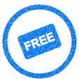 free card rounded grainy icon vector image vector image