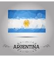 geometric polygonal Argentina flag vector image vector image