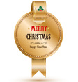 Gold banner with ribbon Labels Tags vector image