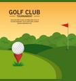 golf course landscape design vector image vector image