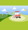 golf tournament cartoon poster background vector image